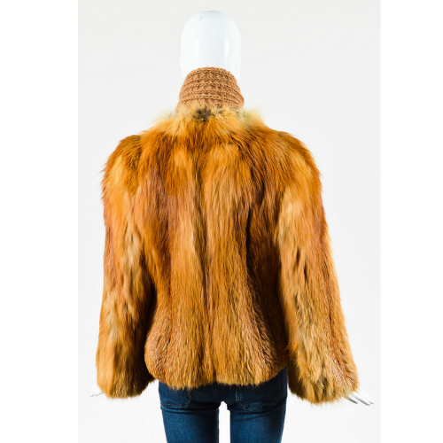 Valentine Furs Red Fox Knit Scarf and Coat Back