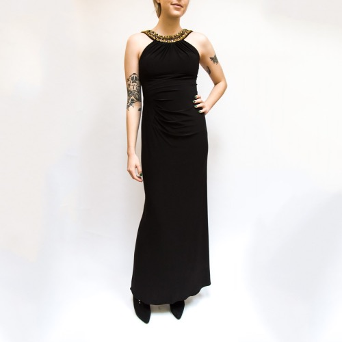 DesignerShare Xscape Halter Beaded Neck Gown - Front