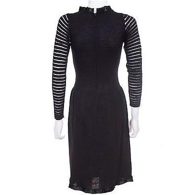 DesignerShare Adolfo Vintage Mesh-Striped Dress - Back