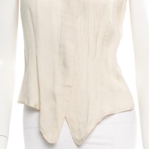 Vintage Giorgio Armani Sleeveless Blouse Detail