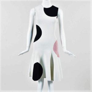 DesignerShare Alexander McQueen Intarsia Knit Polka Dot Dress - Front