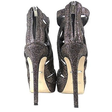 DesignerShare Tania Spinelli Metallic Gladiator Platform Sandals - Back