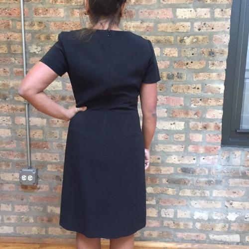 DesignerShare Tahari Arthur S Levine Shift Dress - Back