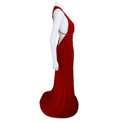 DesignerShare Jovani Beaded Halter Gown - Side