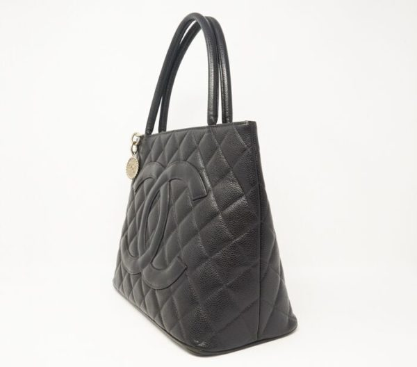DesignerShare Chanel Caviar Quilted Medallion Tote Bag - Side