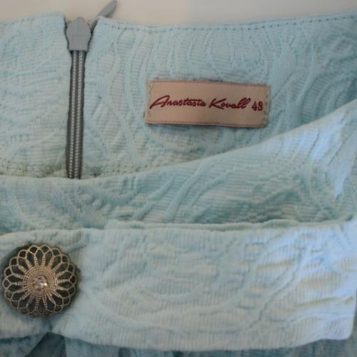 Anastasia Kovall Light Blue Skirt Set Tag