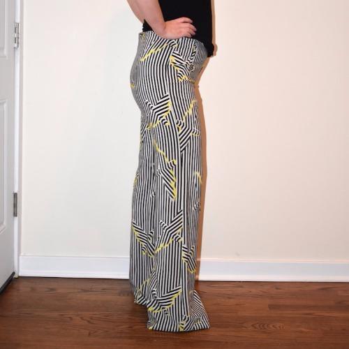 Sass & Bide Wide Leg Striped Pants Side