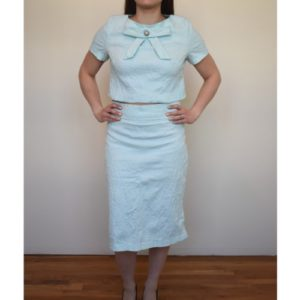 Anastasia Kovall Light Blue Skirt Set