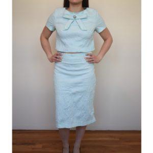 Anastasia Kovall Light Blue Skirt Set
