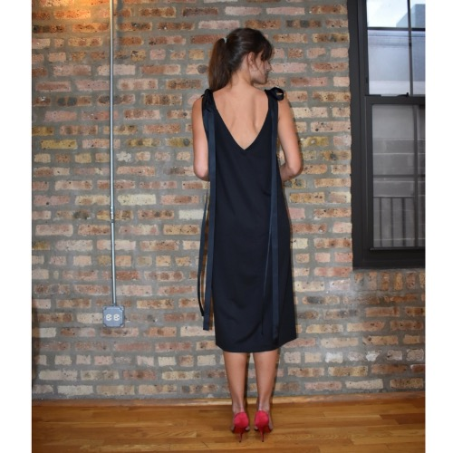 DesignerShare Barak Lahav Black Midi Dress - Back