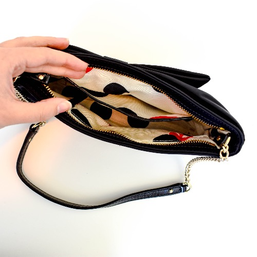DesignerShare Kate Spade New York Nylon E.B. Bow Clutch - Inside