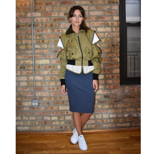 Marissa Webb Madelyn Bomber Jacket Unzipped Sleeves
