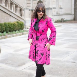 Alice + Olivia Liza Paisley Bell Sleeve Embroidered Coat