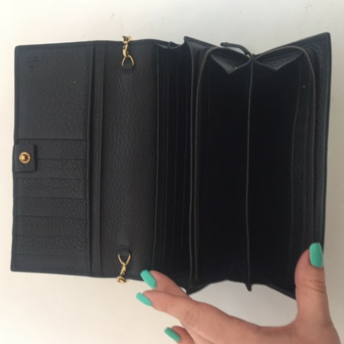 DesignerShare Gucci Leather Wallet on Chain - Inside