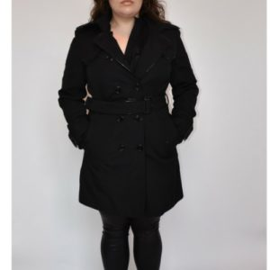 Burberry Short Black Trench Coat