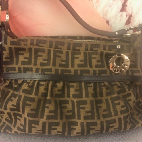 Fendi Monogram Brown Zucca Jacquard Hobo 2