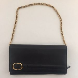 DesignerShare Gucci Leather Wallet on Chain - Front