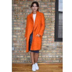 Fausto Puglisi Orange Wool Coat