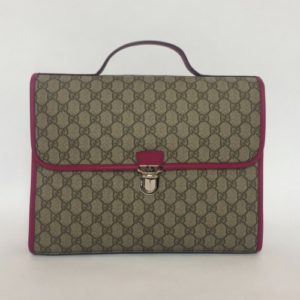 DesignerShare Gucci Monogram Canvas Briefcase Backpack - Front