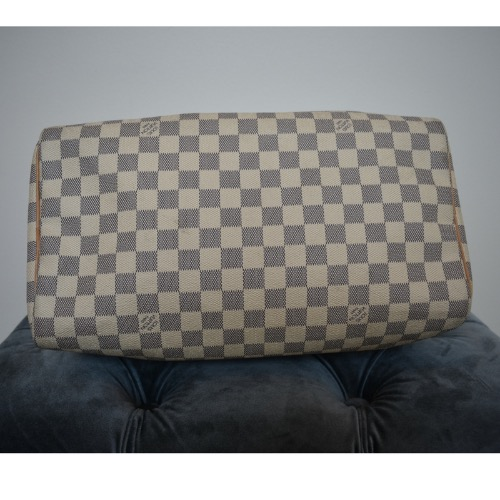 DesignerShare Louis Vuitton Damier Azur Speedy Bandouliere 30 Tote - Bottom
