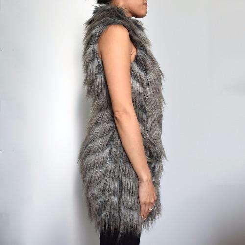 Rachel Zoe Marianne II Faux-Fur Vest Side