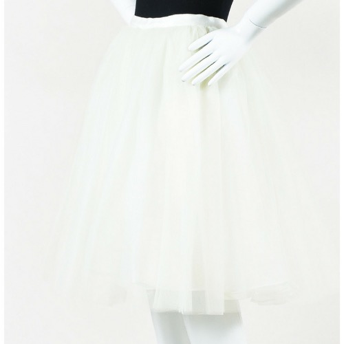Alice + Olivia White Tulle Full Skirt