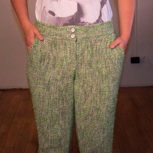 Leifsdottir Cropped Tweed Trouser 2