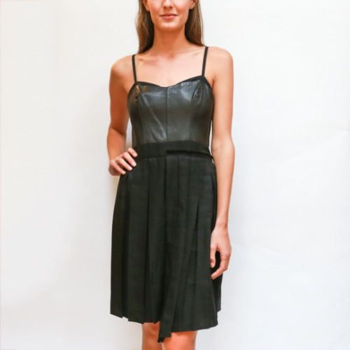 Rag & Bone Leather Bodice Asymmetrical Dress