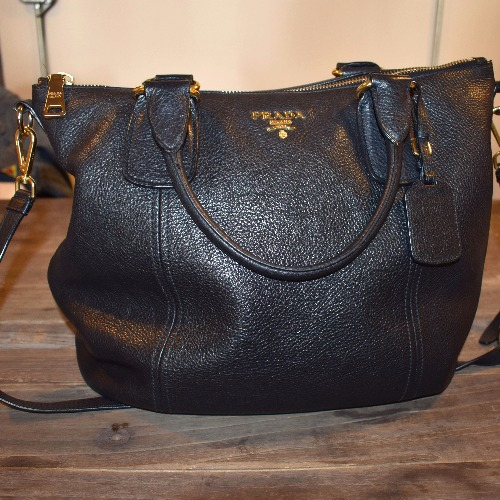 Prada Vitello Daino Large Shopper Bag - Front