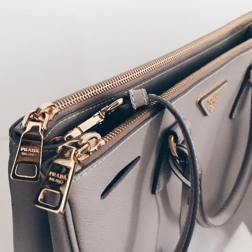 DesignerShare Prada Galleria Medium Saffiano Leather Tote - Detail