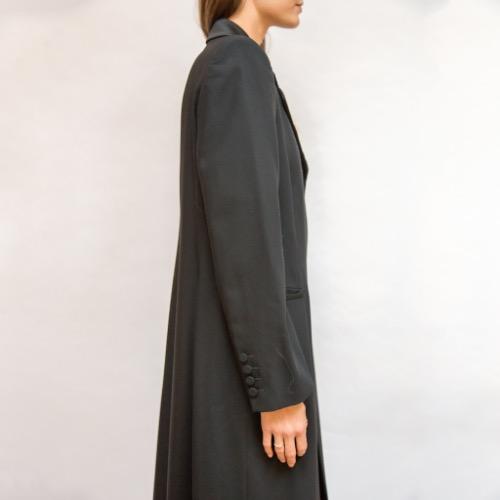 Emporio Armani Floor Length Trench Coat Side