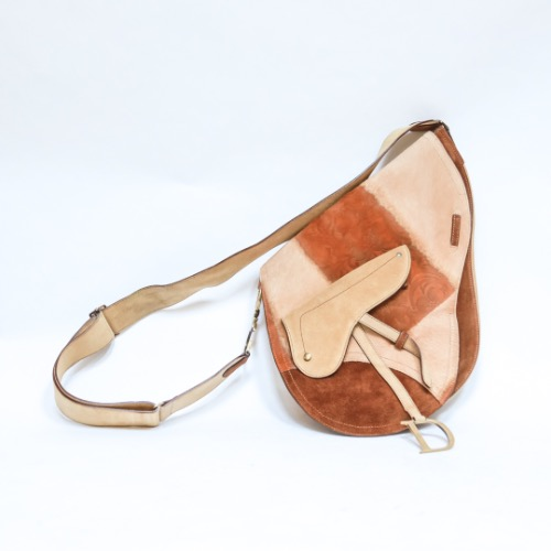 Christian Dior Suede & Ponyhair Saddle Bag
