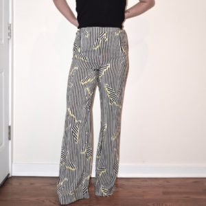 Sass & Bide Wide Leg Striped Pants