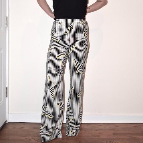 Sass & Bide Wide Leg Striped Pants