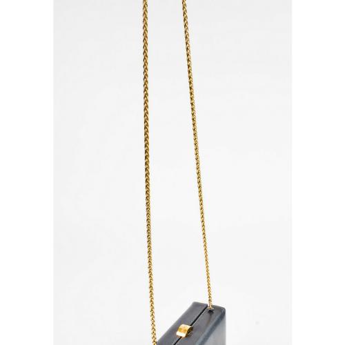 Chanel Metallic Silver Box Bag 2
