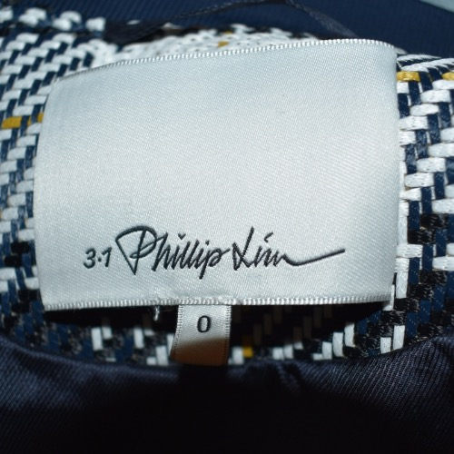 3.1 Phillip Lim Black and White Plaid Bomber Tag
