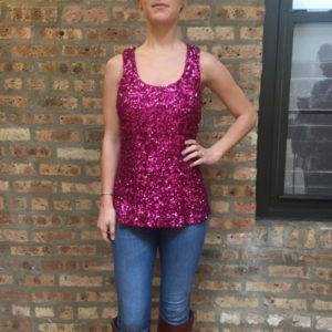 Alice + Olivia Pink Night Out Tank