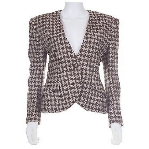 Vintage Christian Dior Houndstooth Skirt Suit