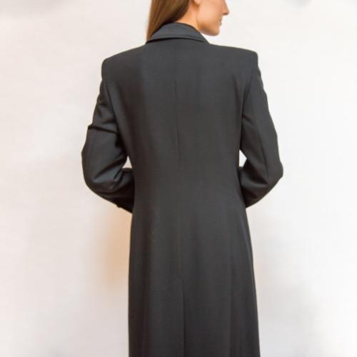 Emporio Armani Floor Length Trench Coat Back