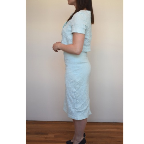 Anastasia Kovall Light Blue Skirt Set Side