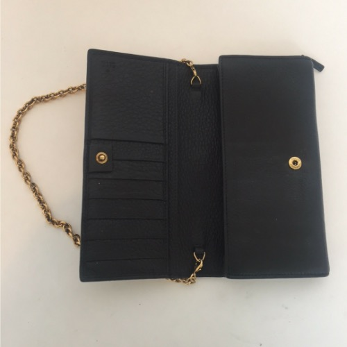 DesignerShare Gucci Leather Wallet on Chain - Top