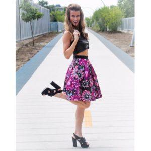 Ted Baker Floral A-Line Skirt