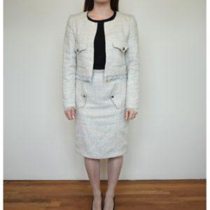 Anastasia Kovall Beige Skirt Suit
