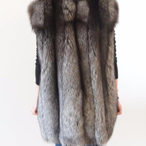 Michael Kors Fox Fur Vest Back