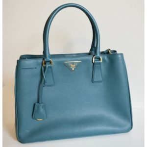 DesignerShare Prada Saffiano Lux Medium Double-Zip Tote - Front