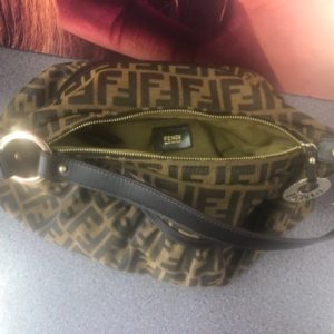 Fendi Monogram Brown Zucca Jacquard Hobo