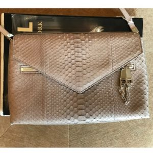 DesignerShare Chloé Cassie Medium Python and Leather Shoulder Bag - Front