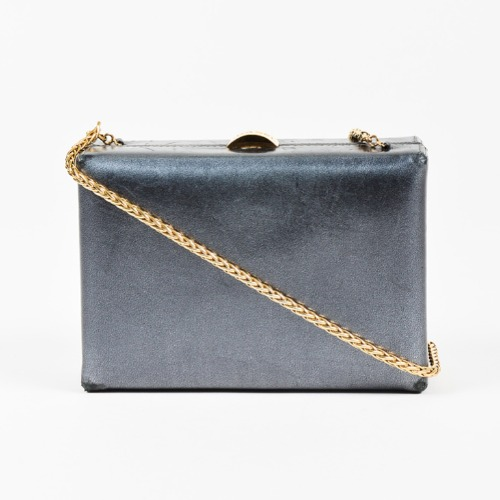 Chanel Metallic Silver Box Bag