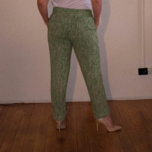 Leifsdottir Cropped Tweed Trouser 4