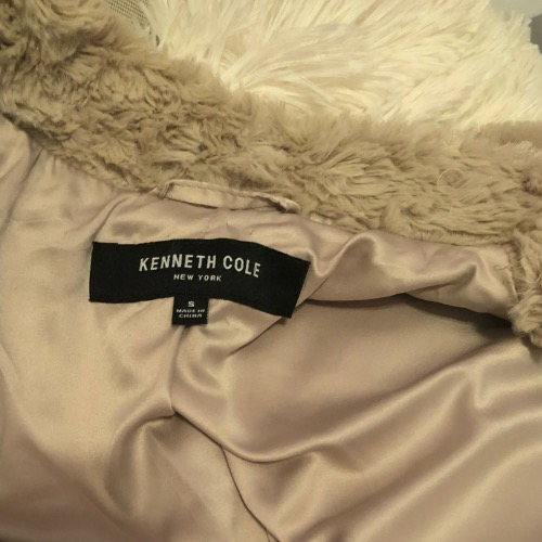 Kenneth Cole Faux Fur Teddy Coat Tag